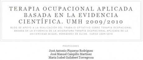 Terapia Ocupacional Basada en la Evidencia Científica UMH 2009/2010